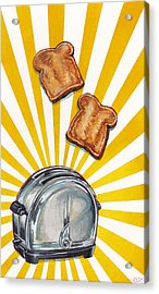 Toast And Toaster Acrylic Print by Kelly Gilleran