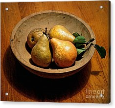 Today's Pears Acrylic Print by Gwyn Newcombe