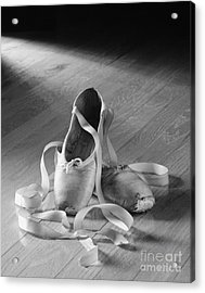 Toe Shoes Acrylic Print by Tony Cordoza