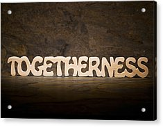 Togetherness Acrylic Print by Donald  Erickson