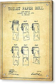 Toilet Paper Roll Patent From 1891 - Vintage Acrylic Print by Aged Pixel
