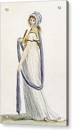 Toilette Demi-habillee, Illustration Acrylic Print by Pierre de La Mesangere