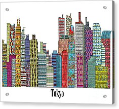 Tokyo City  Acrylic Print by Bri B