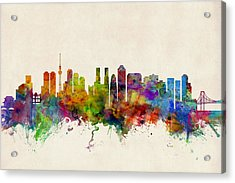 Tokyo Japan Skyline Acrylic Print by Michael Tompsett