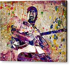 Tom Morello Original Acrylic Print by Ryan Rock Artist