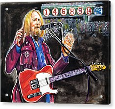 Tom Petty At Fenway Park Acrylic Print by Dave Olsen
