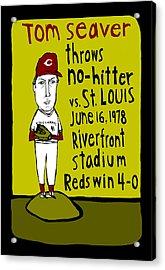 Tom Seaver Cincinnati Reds Acrylic Print by Jay Perkins