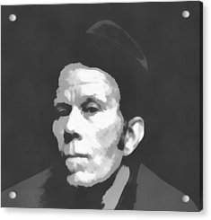 Tom Waits Charcoal Poster Acrylic Print by Dan Sproul