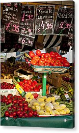 Tomate Acrylic Print by Art Ferrier