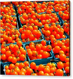 Tomato Squares Acrylic Print by Mamie Gunning