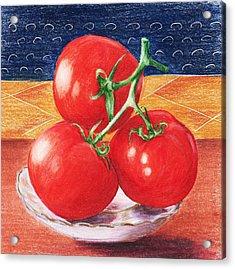 Tomatoes Acrylic Print by Anastasiya Malakhova