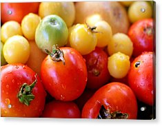 Tomatoes Acrylic Print by Diana Shay Diehl