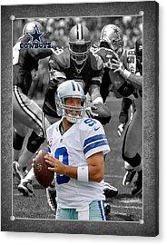 Tony Romo Cowboys Acrylic Print by Joe Hamilton