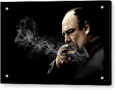 Tony Soprano Acrylic Print by Laurence Adamson
