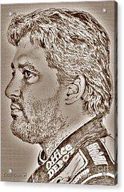Tony Stewart In 2011 Acrylic Print by J McCombie