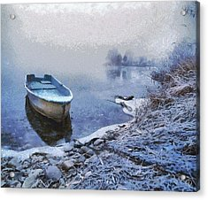 Too Cold For A Boat Trip Acrylic Print by Gun Legler