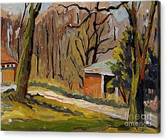 Tool Shed Still Cold Acrylic Print by Charlie Spear