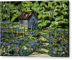Tool Shed Acrylic Print by Robert Thornton