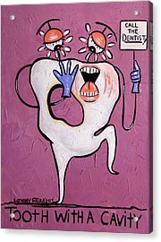 Tooth With A Cavity Dental Art By Anthony Falbo Acrylic Print by Anthony Falbo