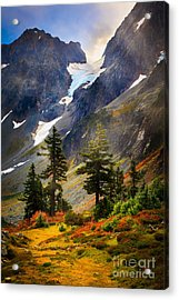 Top Of Cascade Pass Acrylic Print by Inge Johnsson