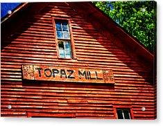 Topaz Acrylic Print by Marty Koch