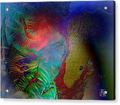 Topology Of Decalcomania Acrylic Print by Otto Rapp