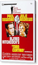 Torn Curtain, Us Poster Art, Top Alfred Acrylic Print by Everett