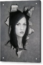 Torn Acrylic Print by Lynet McDonald