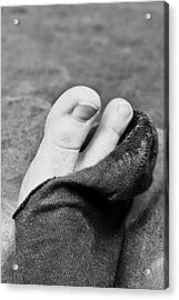 Torn Sock Acrylic Print by Tom Gowanlock