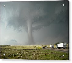 Tornado Truck Stop Acrylic Print by Ed Sweeney