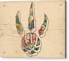 Toronto Raptors Logo Art Acrylic Print by Florian Rodarte