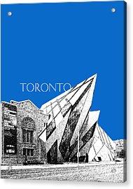 Toronto Skyline Royal Ontario Museum - Blue Acrylic Print by DB Artist