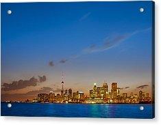 Toronto Skyline Acrylic Print by Sebastian Musial