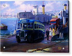 Torpoint Ferry. Acrylic Print by Mike  Jeffries