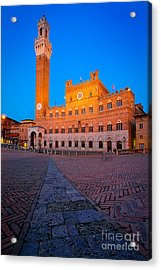 Torre Del Mangia Acrylic Print by Inge Johnsson