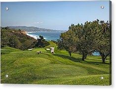 Torrey Pines Golf Course North 6th Hole Acrylic Print by Adam Romanowicz