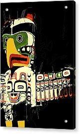 Totem Pole 01 Acrylic Print by Catf