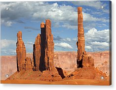 Totem Pole - Monument Valley Acrylic Print by Mike McGlothlen