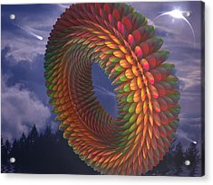Totorical Blades Acrylic Print by Ricky Jarnagin