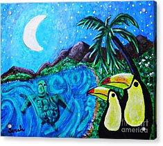 Toucan Bay Acrylic Print by Sarah Loft