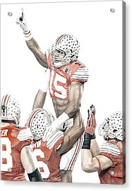 Touchdown Acrylic Print by Bobby Shaw