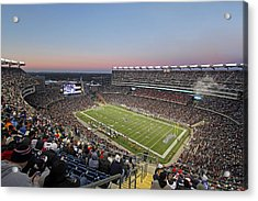 New England Acrylic Print featuring the photograph Touchdown New England Patriots  by Juergen Roth