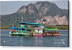 Tour Boats Acrylic Print by Adrian Evans