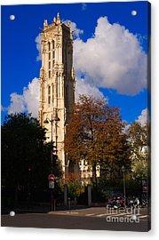 Tour St Jacques Paris Acrylic Print by Louise Heusinkveld