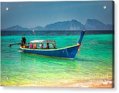 Tourist Longboat Acrylic Print by Adrian Evans
