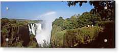 Tourists At A Viewing Point Looking Acrylic Print by Panoramic Images