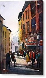 Tourists In Italy Acrylic Print by Ryan Radke
