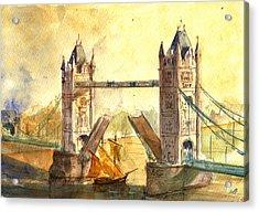 Tower Bridge London Acrylic Print by Juan  Bosco