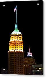 Tower Life Building San Antonio Acrylic Print by Christine Till