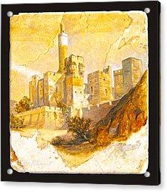 Tower Of David Acrylic Print by Miki Karni